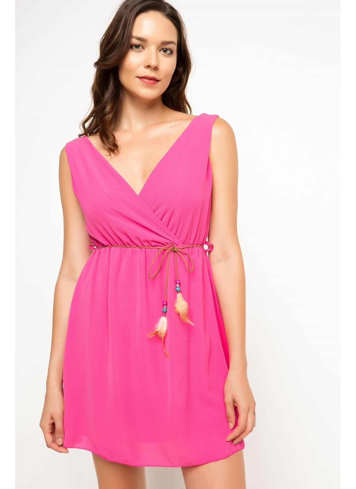 443c88fc84fd0 DeFacto Kadın Belden Kemerli Elbise Pembe | Morhipo | 22894508